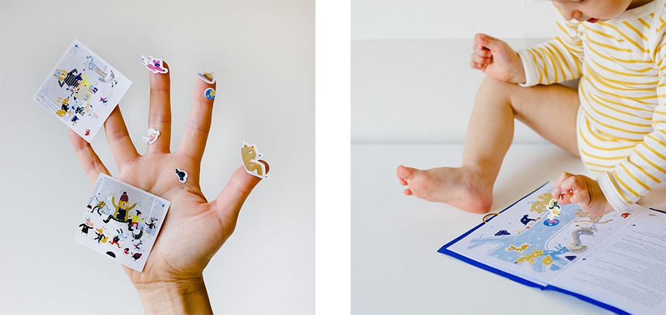le DIY : créer son propre livre de conte Petit Bateau, et le customiser avec des autocollants gratuits