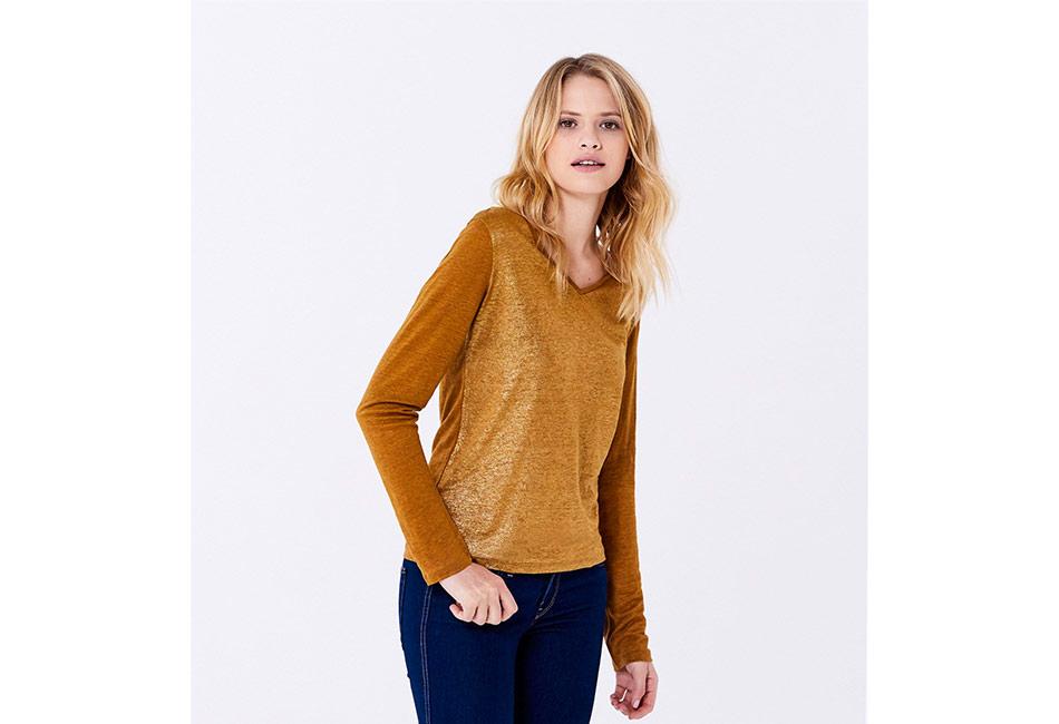 tee-shirt femme doré en soldes chez Petit Bateau